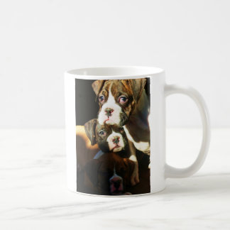 Boxer puppies mug