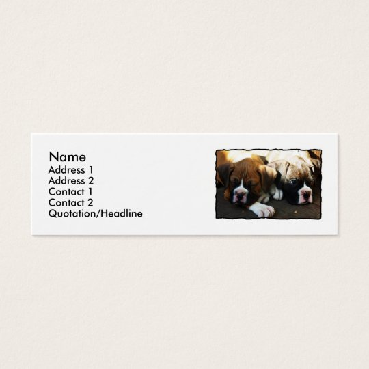 Boxer puppies skinny business cards