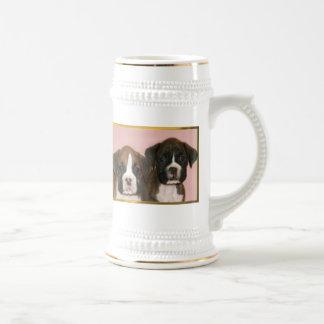 Boxer puppies stein mug