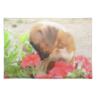 Boxer puppy American MoJo Placemat
