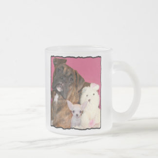 Boxer puppy and Chihuahua mug