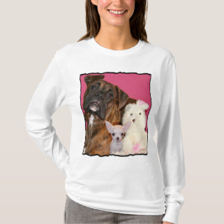 Boxer puppy and Chihuahua shirt