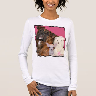 Boxer puppy and Chihuahua T-shirt