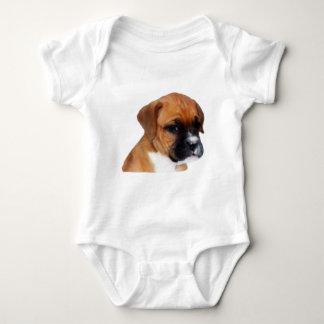 Boxer puppy baby baby bodysuit