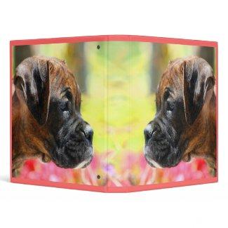 Boxer puppy binder binder