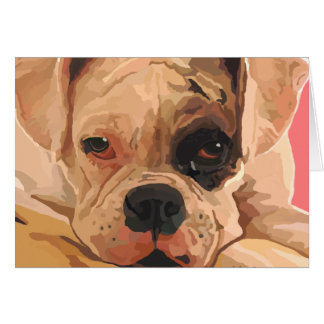 "Boxer Puppy ""Black Eyed"" Greeting Card"