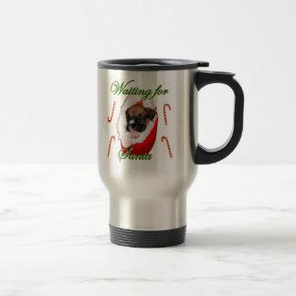 Boxer puppy Christmas travel mug