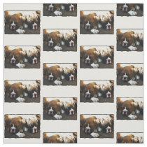Boxer puppy Custom Fabric