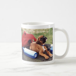 Boxer Puppy Day at the Park Coffee Mug