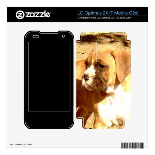 Boxer puppy decals for LG optimus 2X