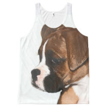 Boxer Puppy dog all over print tank top