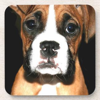 Boxer puppy dog beverage coaster