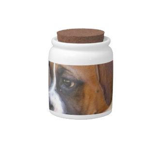 Boxer Puppy Dog Candy Jar