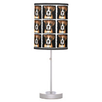 Boxer puppy dog desk lamp