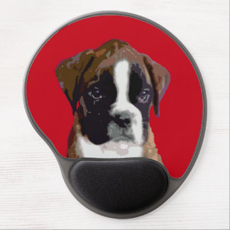 Boxer puppy dog gel mouse pad