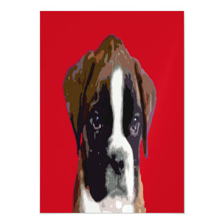 Boxer puppy dog magnetic card