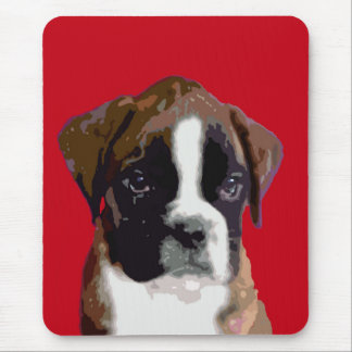 Boxer puppy dog mouse pad