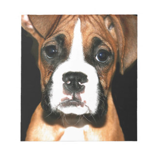 Boxer puppy dog notepad
