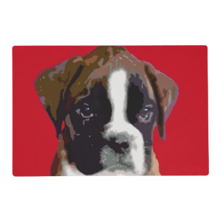 Boxer puppy dog placemat