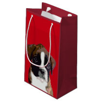 Boxer puppy dog small gift bag