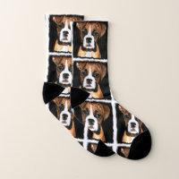 Boxer puppy dog socks