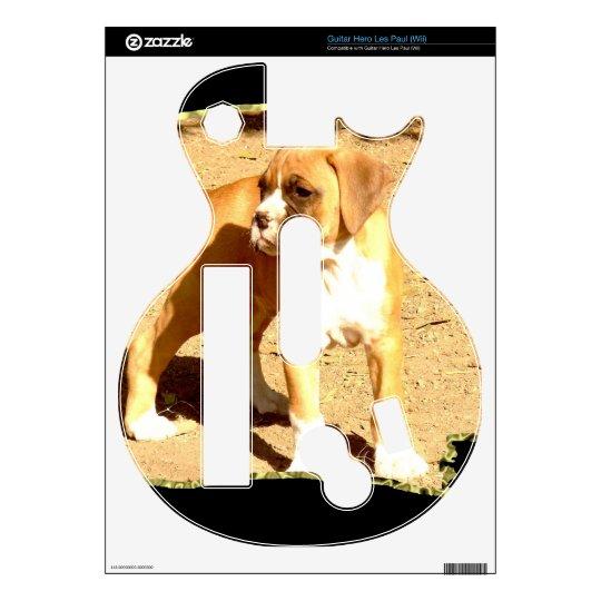 Boxer puppy Guitar Hero Les Paul (wii) Guitar Hero Decal
