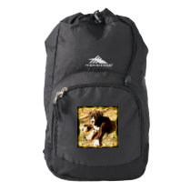 Boxer puppy high sierra backpack