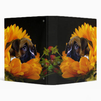 Boxer puppy in Sunflower Binder