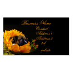 Boxer puppy in sunflower business card