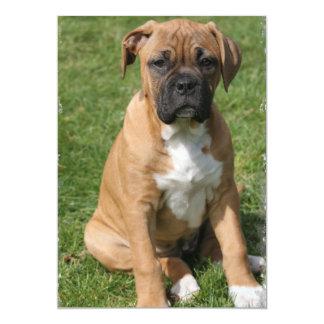 Boxer Puppy Invitation