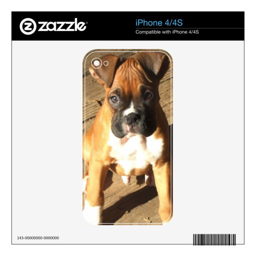 Boxer puppy iphone 4/4s skin iPhone 4 decals