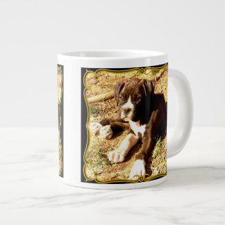 Boxer puppy large coffee mug