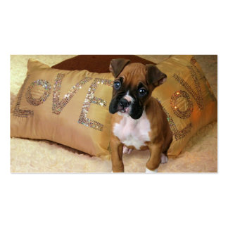 Boxer puppy love business cards