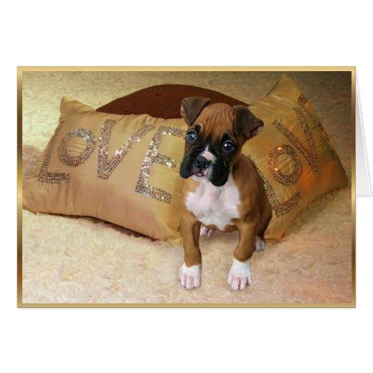 Boxer puppy love Notecard