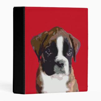 Boxer puppy mini binder