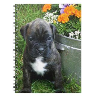 Boxer puppy notebook