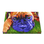 Boxer Puppy on Wrapped Canvas Canvas Print