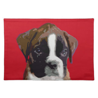 Boxer puppy placemat