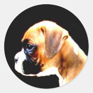 Boxer puppy profile sticker