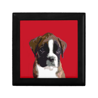 Boxer puppy Red Gift Box