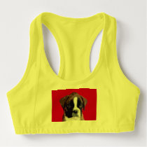 Boxer puppy sports bra