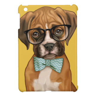 Boxer Puppy with Specs Case For The iPad Mini