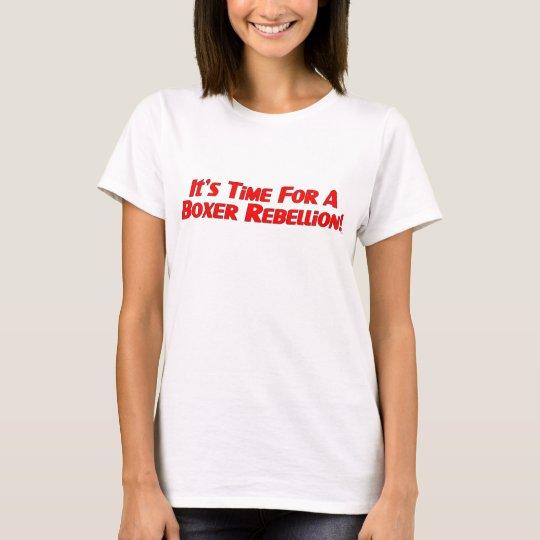 Boxer Rebellion / Vote Ma'am Out Ladies T T-Shirt