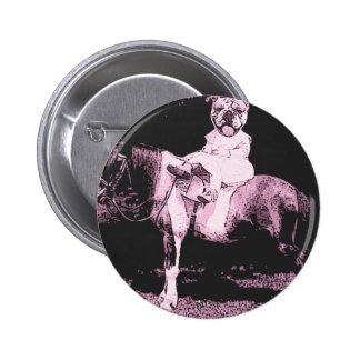 boxer rider pinback button