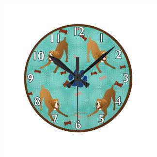 Boxer Round Clock