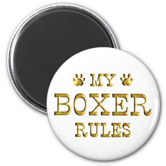 Boxer Rules Gold Refrigerator Magnet