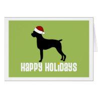Boxer Santa Hat Cards