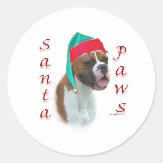 Boxer Santa Paws Sticker
