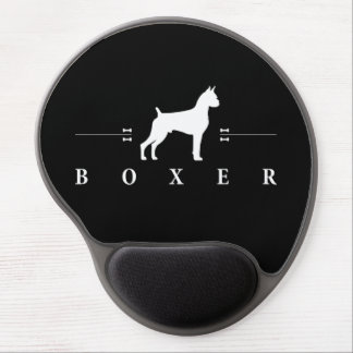 Boxer silhouette -1- gel mouse pad