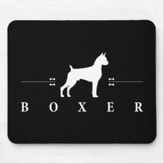 Boxer silhouette -1- mouse pad